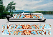 Wrapping Pontoon Replacement Graphics Kit Decal Stickers Boats Octopus Squid