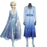 Shining Sequin Queen Dress Elsa Cosplay Costume And Boots Fancy Blue Dress