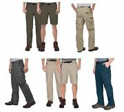 Bc Clothing Menand039s Convertible Stretch Cargo Hiking Pants Shortszippered Pockets