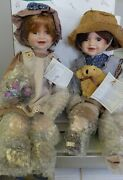 Heirloom Duck House Dolls, Keith And Kara, New In Perfect Condition