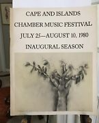 Jim Dine Signed 1980 Poster. Cape And Islands Inaugural Chamber Music Festival