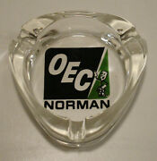 Vntg Norman Oklahoma Electric Coop Willie Wiredhand Advertising Glass Ashtrayandnbsp