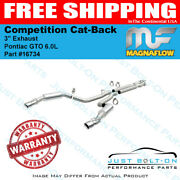 Magnaflow 3and039 Competition Cat-back Exhaust For 2005-2006 Pontiac Gto 6.0l 16734
