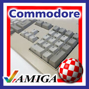 Commodore Amiga 2000 A3000 A4000 Keyboard Key Caps With Greenish Plunger