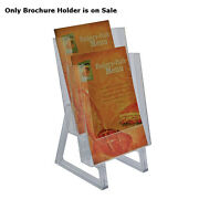 Clear 2 Tier Bi-fold Brochure Holder 6.25w X 7.25d X 13h Inches - Pack Of 2