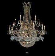 Aico Furniture - Summer Palace Clear Glass Antique Brass 30 Light Chandelier ...