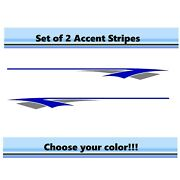 2 Rv Car Truck Pontoon Boat Trailer Side Accent Decals Graphics Stripes St25
