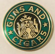 Brand New-sought After- Guns N Cigars- Nypd Challenge Coin- Green Version