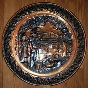 Copper Wall Hanging By Coppercraft Guild - Taunton Mass - 19.5 Made In U.s.a