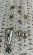 Kai Yin Lo Mother Of Pearl Earrings Pendant Enhancer/brooch And Necklace