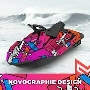 Seadoo Spark Trixx Bombardier 2up + 3up Jet Ski Graphic Decal Vinyl Colorful