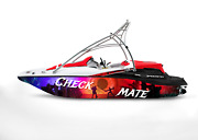 Graphic Kit Decal Boat Sportster Sea Doo Speedster Sport Wrap Checkmate