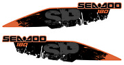 Seadoo Wake 180 Graphic Kit Bpr Challenger Se 18 Stickers Decals Vynyl Wrap Set