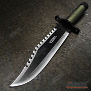 15 Two Tone Blade Rambo Survival Hunting Knife With Survival Kits