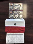 1987 Us Mint Uncirculated Coin Set In Ogp Envelope And Coa 10 Coins P And D