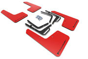 Rally Armor Mud Flaps Guards For 17-19 F150 Raptor Red W/black Logo