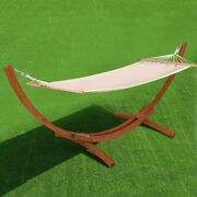 Hammock Swing Arc Curved Wood Stand Hanging Lounger Outdoor Large Wooden Frame