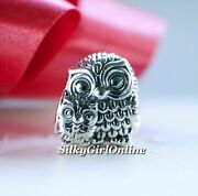 Authentic Pandora Charming Owls Sterling Silver Charm 791966