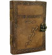 Journal Writing Notebook - Handmade Leather Bound Daily Notepad For Men And Women