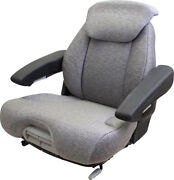 Amss11009 Seat Assembly Gray Fabric For Grammer Suspensions - See Description