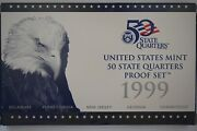 1999 S 50 State Quarter Clad Proof Set With Ogp And Coa