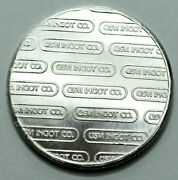 Usvi Ingot Co.1 Troy Ounce 999 Fine Silver Argent Comercial Extremely Rare Round