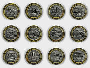 Set Of 12 Coins 10 Rubles Railway Trains Of Russia Legendary Locomotives Unc.