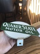 Vintage Quaker State Sign Advertising Lubester Sign
