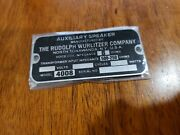 Reproduction Tag For A Wurlitzer Jukebox Type 4008 Light-up Wall Speaker