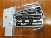 Reproduction Tag For A Wurlitzer Jukebox Type 4005 Wall Speaker
