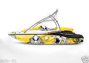 Graphic Kit Decal Boat Sportster Sea Doo Speedster Sport Wrap Scary Fish