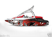 Graphic Kit Decal Boat Sportster Sea Doo Speedster Sport Wrap Winged Demon