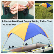 3 Person Inflatable Boat Kayak Canopy Awning Sun Shade Shelter Tent 185 X 150cm
