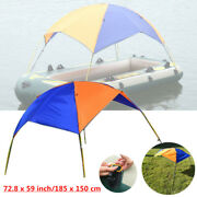Foldable Inflatable Boat Canoeing Visor Canopy Awning Sun Shade Shelter Tent+bag