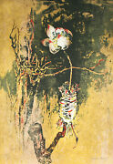 Orchid By Hoi Lebadang Signed Ltd Edition 100/110 Lithograph 29 1/2x20