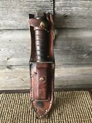 Vintage Fixed Blade Camillus New York Combat Survival Knife Bowie