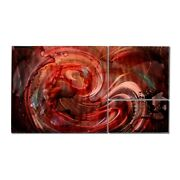 Large Metal Abstract Wall Painting Modern Contemporary Art Deco By Sebastian R