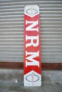 Vintage Old Collectible N R M Tyre 60'' X 12'' Porcelain Enamel Adv Sign Board