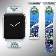 Costa Rica Coat Of Arms Apple Watch Band Se 44 40 38 42 Mm Series Se 6 5 3 4 2