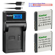Kastar Battery Lcd Usb Charger For Sony Np-fe1 Npfe1 And Sony Cyber-shot Dsc-t7