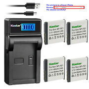 Kastar Battery Lcd Usb Charger For Sony Np-fe1 Npfe1 And Sony Cyber-shot Dsc-t7/s