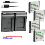 Kastar Battery Dual Usb Charger For Sony Np-fe1 Npfe1 And Sony Cyber-shot Dsc-t7/b