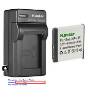 Kastar Battery Ac Wall Charger For Sony Np-fe1 Npfe1 And Sony Cyber-shot Dsc-t7/s