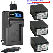Kastar Battery Lcd Ac Charger For Sony Np-fh100 Sony Dcr-sx40 Dcr-sx41 Dcr-sx50