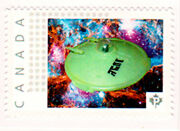 Canada Picture Postage Stamp - Lindberg Flying Saucer Plan 9 From Outer Space