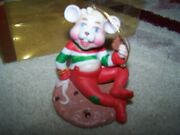 Porcelain Christmas Mice Of Buttersworth Figurine Cmc 1988 Collectables Rare