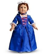 American Girl Felicity Holiday Outfit Retired Blue White Lace Gown And Acc Nib