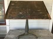 Antique Drafting Table Industrial Age Cast Iron