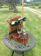 Stunning Handcrafted Red Oak Wine Bottle Holder Amazing Country Decor