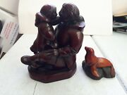 Pair Of Boma Canada Signed Mcphee Scuiptures / Figurines - Excellent Condition